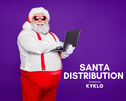 Santa distribution.